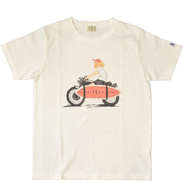 ザエンドレスサマー 【THE ENDLESS SUMMER】 TES LOCAL CREW ART Tシャツ WHITE