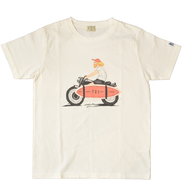 ザエンドレスサマー 【THE ENDLESS SUMMER】 TES LOCAL CREW ART Tシャツ WHITE