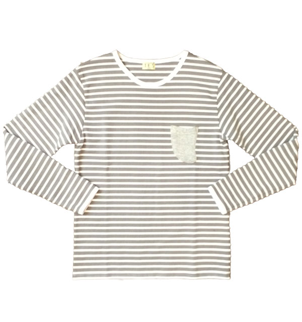 ザエンドレスサマー 【THE ENDLESS SUMMER】 TES BELLS BORDER L/S TEE   GRAY/WHITE