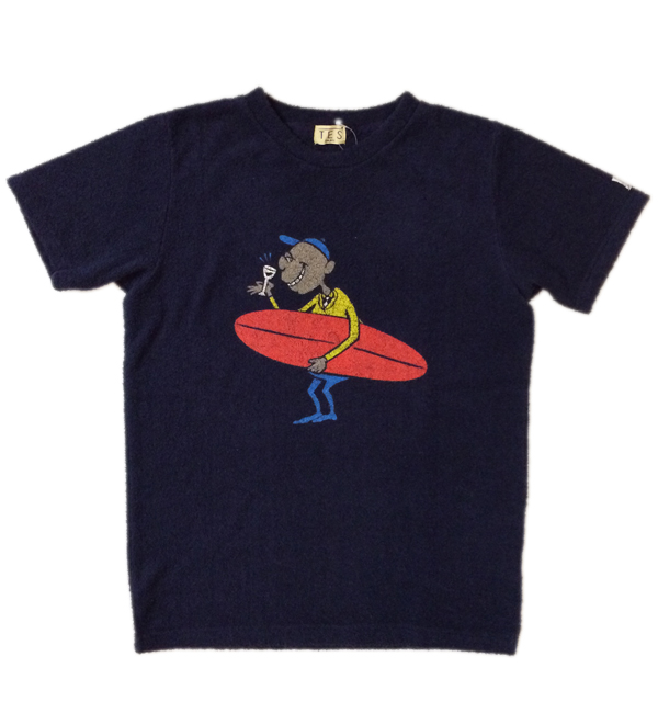 ザエンドレスサマー 【THE ENDLESS SUMMER】  COMFORTABLE PILE HOLIDAY TEE パイルプリントTEE NAVY