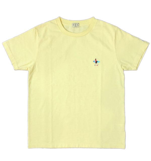 ザエンドレスサマー 【THE ENDLESS SUMMER】 刺繍入りTシャツ TES CALIFORNIA CREW EMB-TEE LEMON YELLOW
