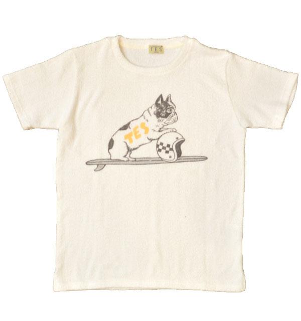 ザエンドレスサマー 【THE ENDLESS SUMMER】  両面パイルTシャツ COMFORTABLE PILE TEE BUHI TRACKER TEE WHITE
