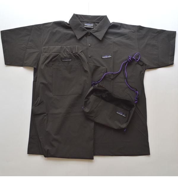 サウザンドマイル THOUSAND MILE ストレッチナイロン ポロシャツ セットアップ×サコッシュ CHARCOAL