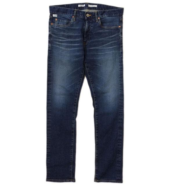 ターンミーオン 【TURN ME ON】 ストレッチデニム 5ポケットパンツ WASHED BLUE DARK