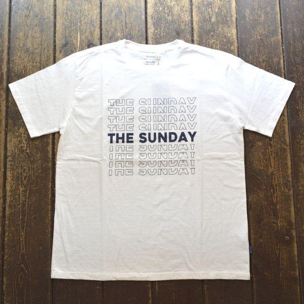 ターンミーオン TURN ME ON 半袖Tシャツ THE SUNDAY WHITE/NAVY