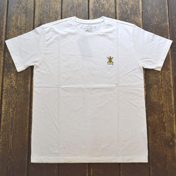 ターンミーオン TURN ME ON 虎刺繍 半袖Tシャツ WHITE