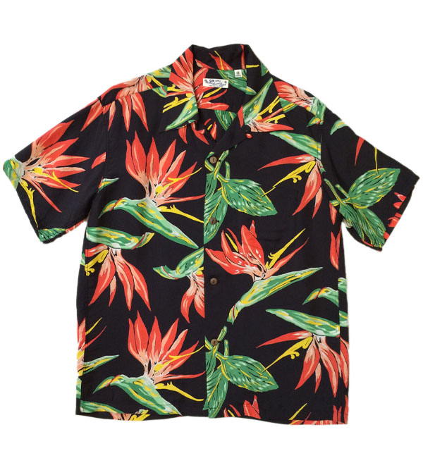 サンサーフ 【SUN SURF】 ALOHA SHIRTS BIRD OF PARADISE BLACK