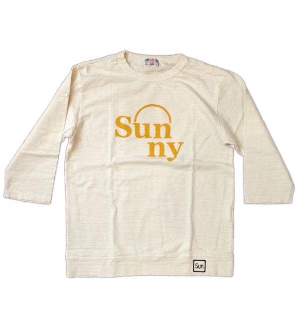 ユーエムアイコホラ 【U.M.I KOHOLA】 七部袖スラブカットソー SUNNY OFF WHITE