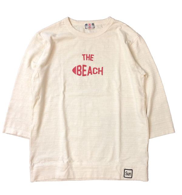 U.M.I KOHOLA 【ユーエムアイ コホラ】 スラブプリント7分袖 THE BEACH NATURAL