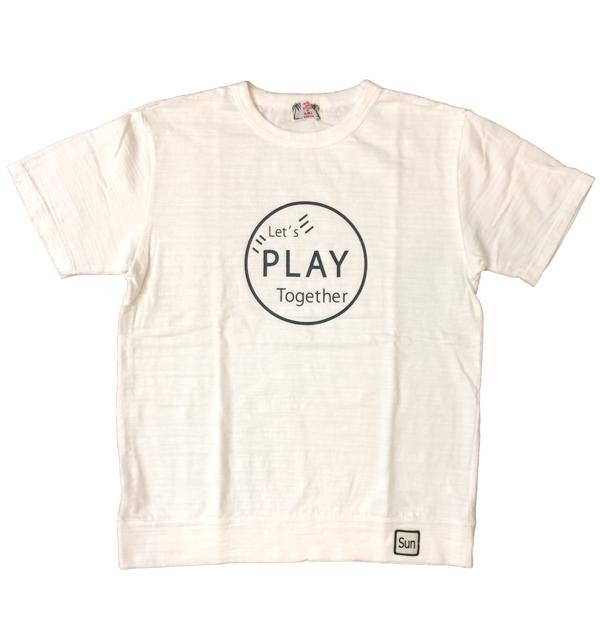 U.M.I KOHOLA 【ユーエムアイ コホラ】 スラブプリントTシャツ PLAY WHITE
