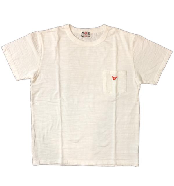 U.M.I KOHOLA 【ユーエムアイ コホラ】 スラブポケットTシャツ HANGLOOSE WHITE