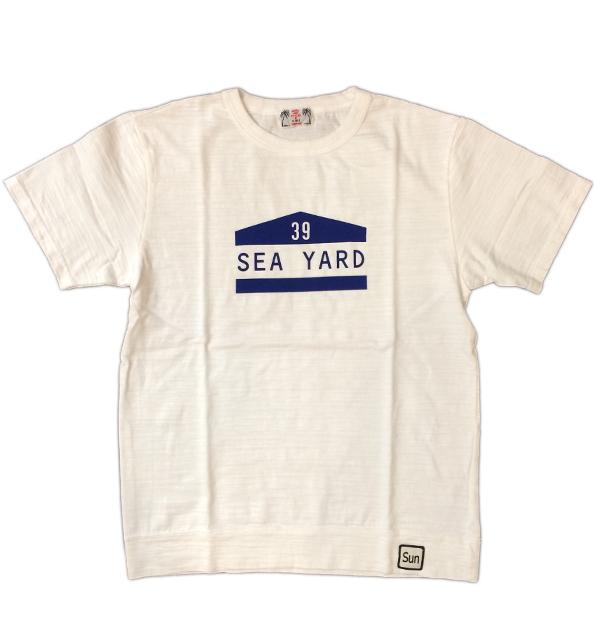 U.M.I KOHOLA 【ユーエムアイ コホラ】 スラブプリントTシャツ SEA YARD WHITE