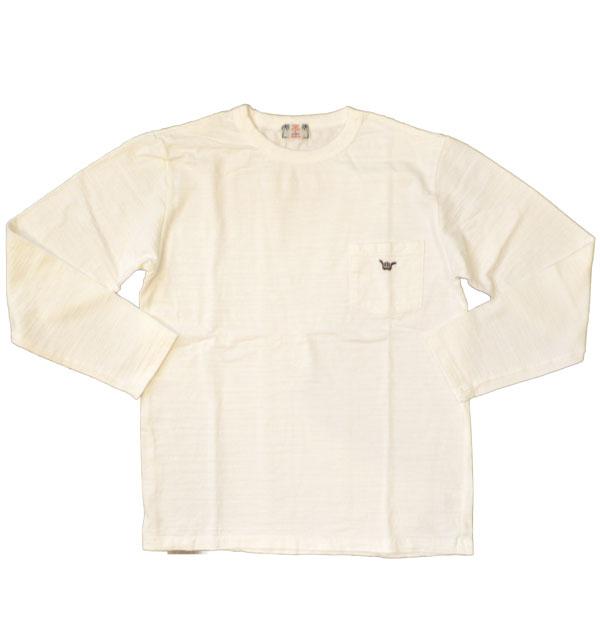 U.M.I KOHOLA 【ユーエムアイ コホラ】 スラブポケット長袖Tシャツ HANGLOOSE WHITE