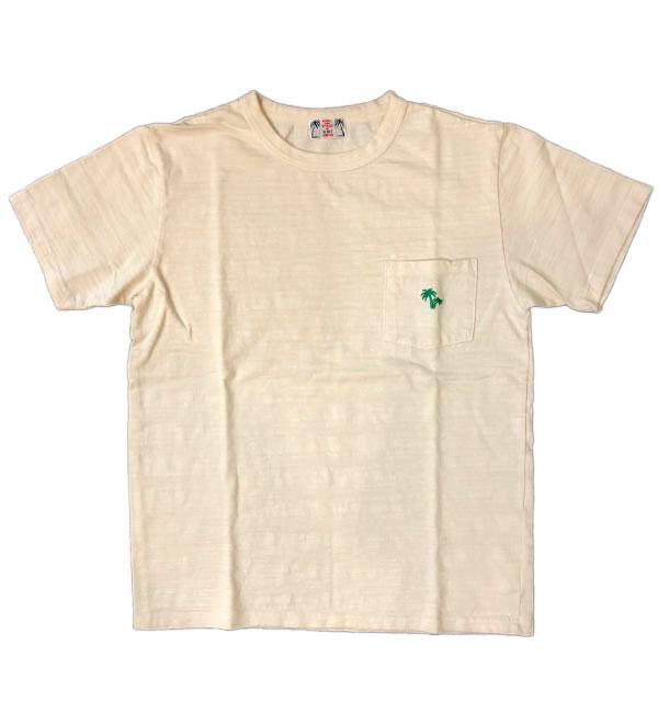 ユーエムアイ サンライズ 【U.M.I SUNRISE】 スラブポケットTシャツ PALM NATURAL