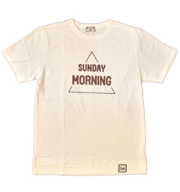 ユーエムアイ サンライズ 【U.M.I SUNRISE】 スラブプリントTシャツ SUNDAY MORNING WHITE