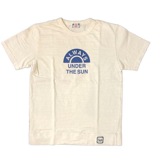 ユーエムアイ サンライズ 【U.M.I SUNRISE】 スラブプリントTシャツ ALWAYS NATURAL