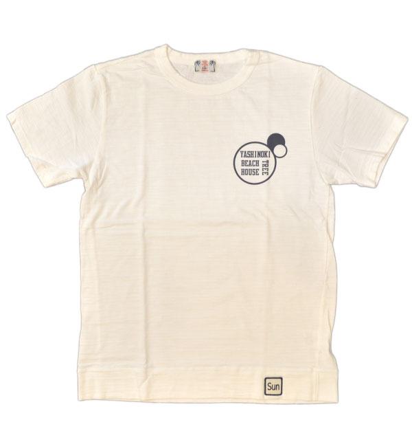 ユーエムアイ サンライズ 【U.M.I SUNRISE】 スラブプリントTシャツ YASHINOKI WHITE
