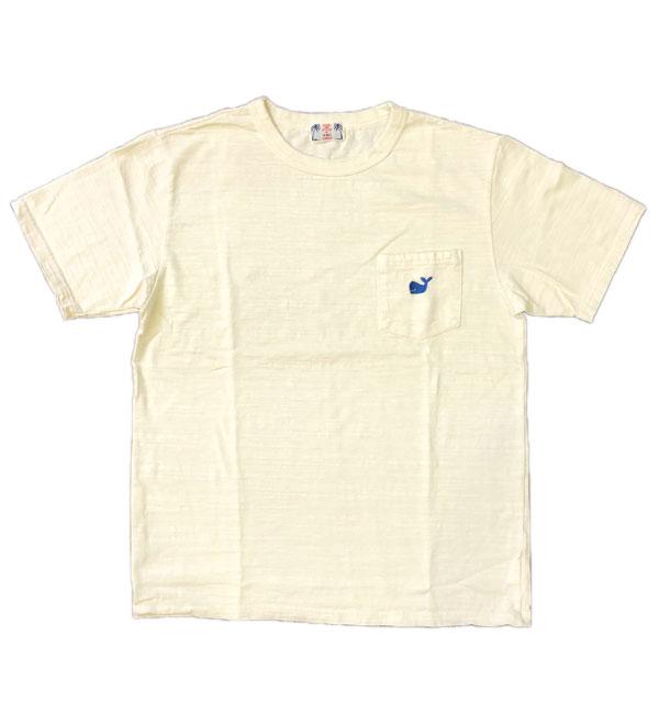 ユーエムアイ サンライズ U.M.I SUNRISE スラブポケットTシャツ KUZIRA NATURAL