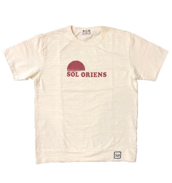 ユーエムアイ サンライズ U.M.I SUNRISE スラブプリントTシャツ SOL ORIENS  NATURAL