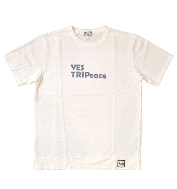 ユーエムアイ サンライズ U.M.I SUNRISE スラブプリントTシャツ YES TRIPEACE WHITE
