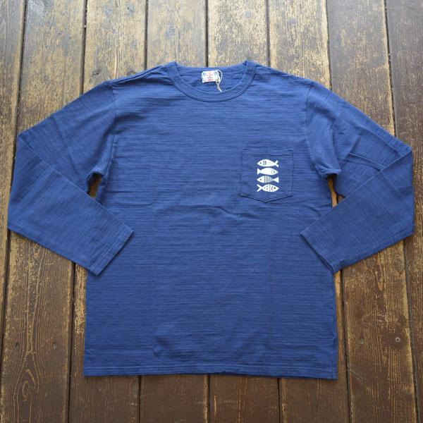 ユーエムアイ サンライズ U.M.I SUNRISE L/S スラブポケットTシャツ FISH NAVY