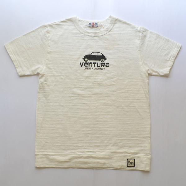 ユーエムアイ サンライズ U.M.I SUNRISE スラブプリント S/S T-SHIRT VENTURA WHITE