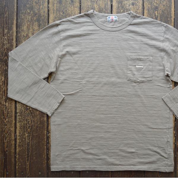 ユーエムアイ サンライズ U.M.I SUNRISE L/S スラブポケットTシャツ KUZIRA GRAY