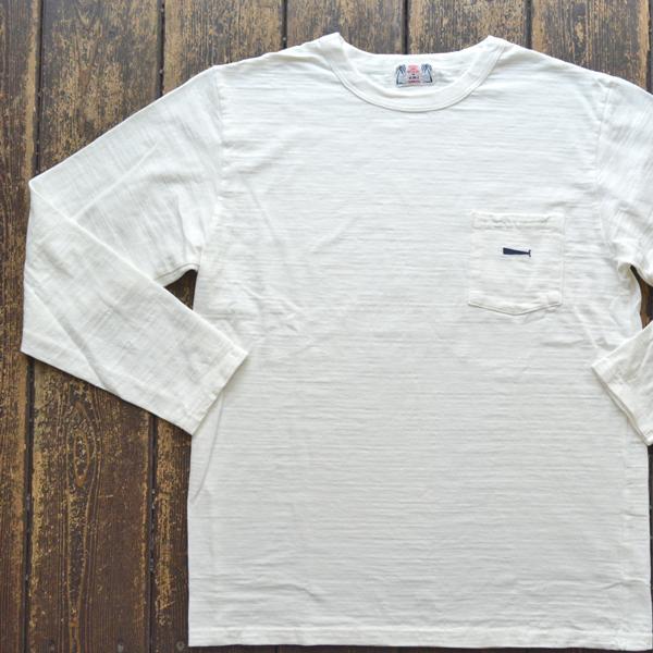 ユーエムアイ サンライズ U.M.I SUNRISE L/S スラブポケットTシャツ KUZIRA WHITE