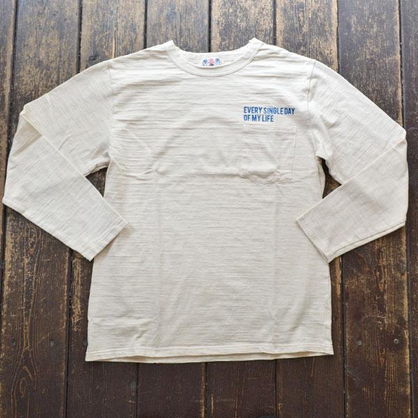 ユーエムアイ サンライズ U.M.I SUNRISE L/S スラブポケットTシャツ EVERY SINGLE DAY OF MY LIFE NATURAL