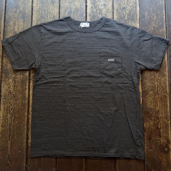 ユーエムアイ サンライズ U.M.I SUNRISE スラブポケット半袖Tシャツ WAVE BLACK