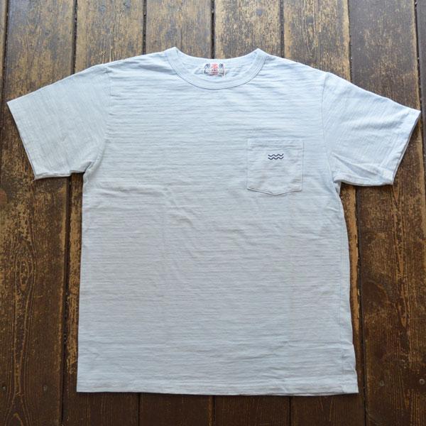 ユーエムアイ サンライズ U.M.I SUNRISE スラブポケット半袖Tシャツ WAVE BLUE