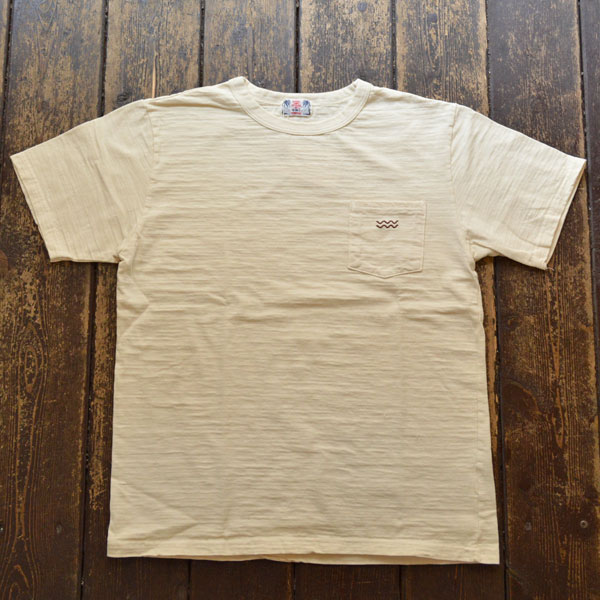 ユーエムアイ サンライズ U.M.I SUNRISE スラブポケット半袖Tシャツ WAVE NATURAL