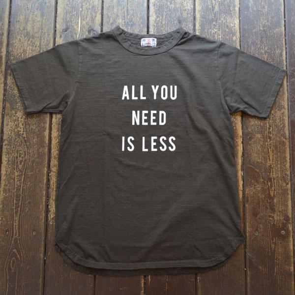 ユーエムアイ サンライズ U.M.I SUNRISE リサイクルコットン半袖Tシャツ NEED BLACK
