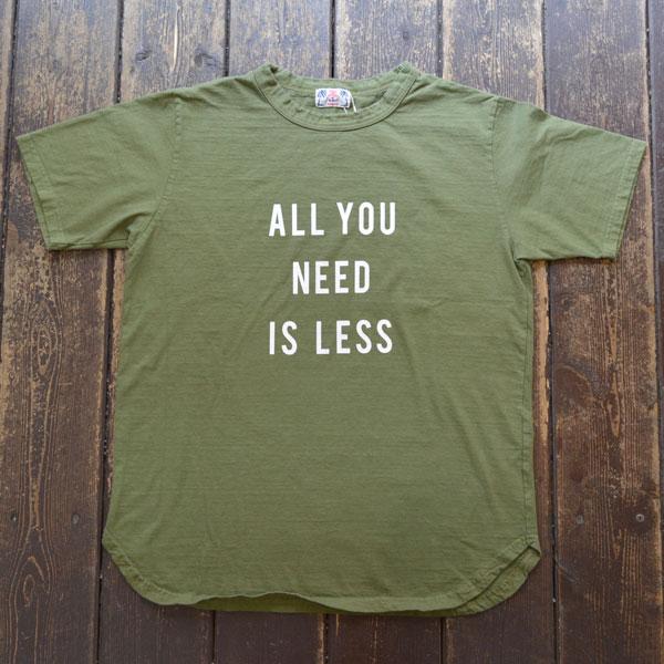 ユーエムアイ サンライズ U.M.I SUNRISE リサイクルコットン半袖Tシャツ NEED OLIVE