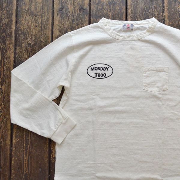 ユーエムアイ サンライズ U.M.I SUNRISE リサイクルコットン L/S T-SHIRT MONDAY TACO WHITE