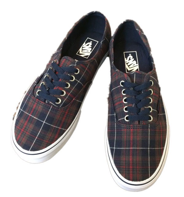 バンズ 【VANS】 AUTHENTIC NAVY CHECK