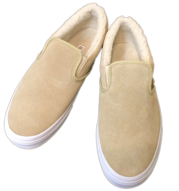 バンズ 【VANS】 Classic Slip On Suede/Fleece  KHAKI
