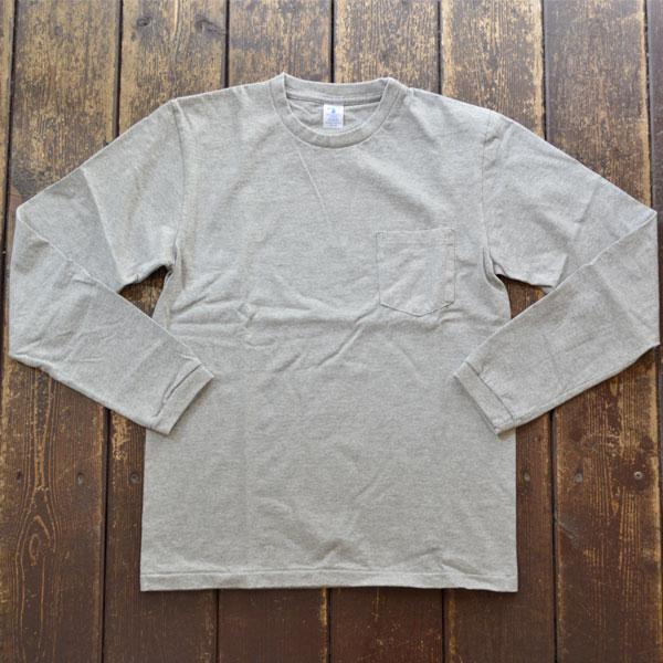 ベルバシーン Velva Sheen ロングスリーブ ポケットTシャツ TUBULER L/S TEE 160928 GRAY