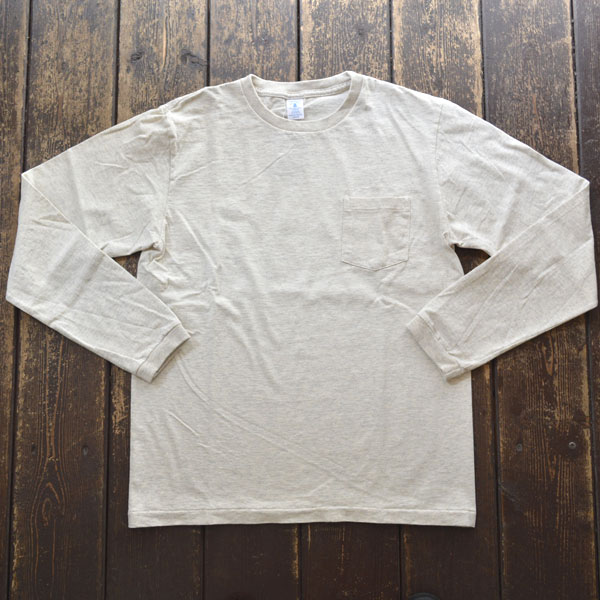 ベルバシーン Velva Sheen ロングスリーブ ポケットTシャツ TUBULER L/S TEE 160928 OATMEAL