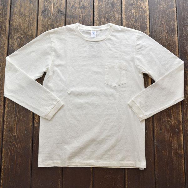 ベルバシーン Velva Sheen ロングスリーブ ポケットTシャツ TUBULER L/S TEE 160928 WHITE