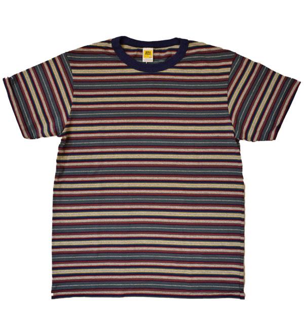 ベルバシーン Velva Sheen マルチボーダーTシャツ DEADSTOCK STRIPE TEE NAVY/GREEN/RED