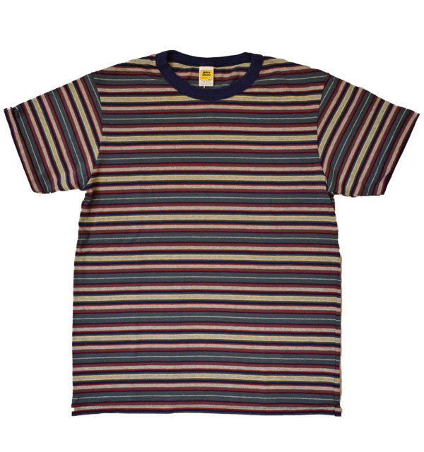 ベルバシーン Velva Sheen マルチボーダーTシャツ DEADSTOCK STRIPE TEE NAVY/GREEN/RED