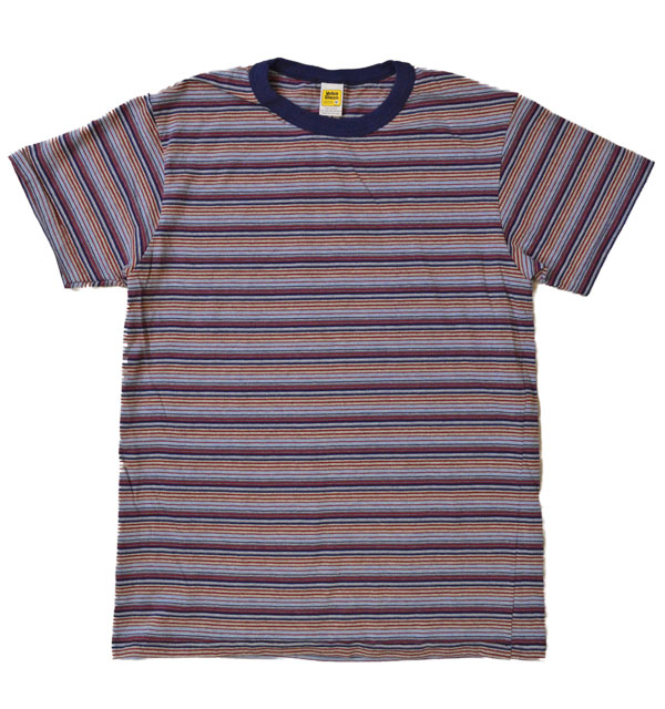 ベルバシーン Velva Sheen マルチボーダーTシャツ DEADSTOCK STRIPE TEE NAVY/BURGUNDY