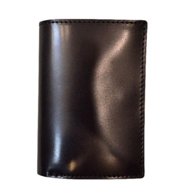 ズー ZOO コードバンレザー 二つ折り財布 DINGO MEDIUM WALLET ZMW-004 BLACK