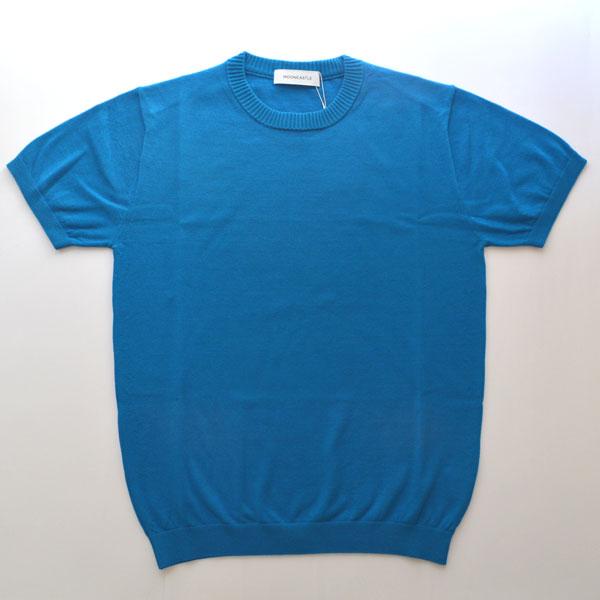 ムーンキャッスル MOONCASTLE アイスコットン S/S クルーネック ICE COTTON CREWNECK ROYAL BLUE