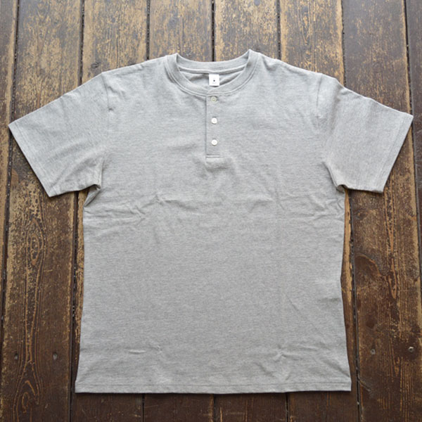モクティー mocT ヘンリーネックTシャツ HENRY NECK T-SHIRT JS050 GR7