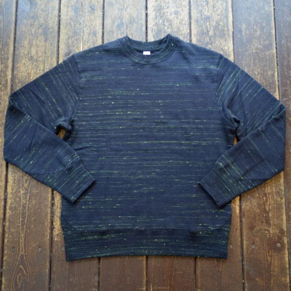 モクティー mocT ネオンスクリプト 吊り編み スウェットシャツ NEON SCRIPT REGULAR FIT LOOPWHEEL CREW-NECK MJ2-0131 NAVY