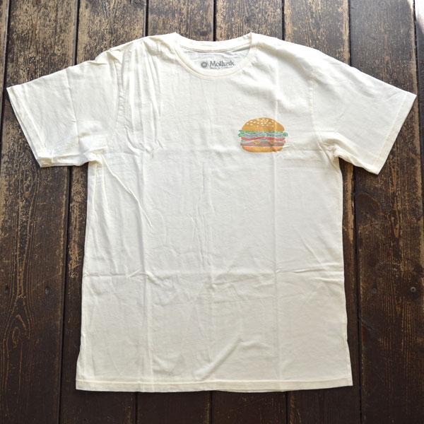 モラスク MOLLUSK プリントTシャツ CHEESE BURGER TEE WHITE