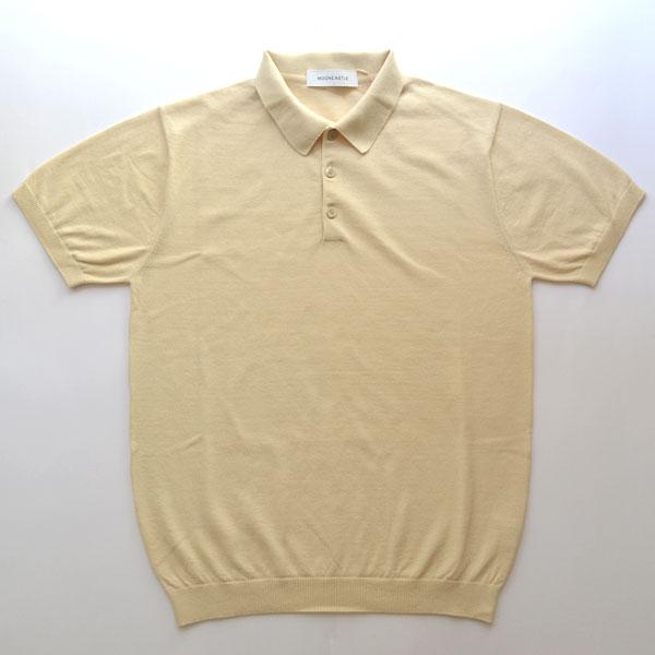 ムーンキャッスル MOONCASTLE アイスコットン S/S ポロシャツ ICE COTTON POLO SHIRT BEIGE