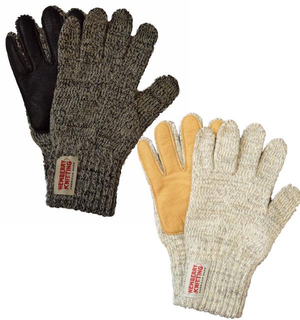 ニューベリーニッティング 【NEWBERRY KNITTING】 ディアスキン ラグウール グローブ Deerskin Palmed Rag Wool Glove Ladies Size 2COLOR